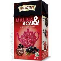 Herbata czarna BIG-ACTIVE Malina & Acai (20T)