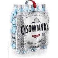 Woda mineralna CISOWIANKA delikatnie gazowana 1.5l (6szt) plastikowa butelka