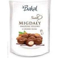 Migdały smażone i solone w czekoladzie BAKAL SWEET 80g
