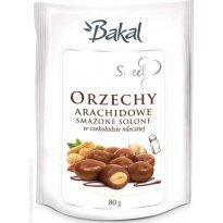 Orzechy arachidowe smażone i solone w czekoladzie BAKAL SWEET 80g