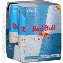 Napój energetyczny RED BULL bez cukru puszka 250 ml (4szt)