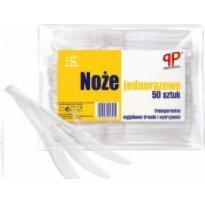 Noże jednorazowe GASTRO transparentne (50szt)