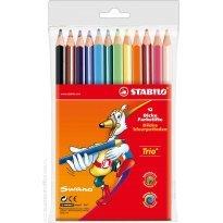 Kredki ołówkowe STABILO Trio 12 kolorów