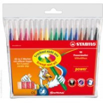 Flamastry STABILO Power 18 kolorów