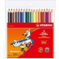 Kredki ołówkowe STABILO Trio 18 kolorów