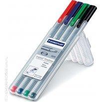 Cienkopis STAEDTLER Triplus Fineliner kpl. 4 kolory