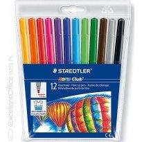 Flamastry dwustronne STAEDTLER Noris Club 12 kolorów