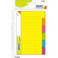 Przekładki samoprzylepne Stick'n. Neon 100 x 150 mm, 6 kol. indeksów