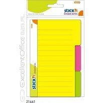 Przekładki samoprzylepne Stick'n. Neon 100 x 150 mm, 3 kol. indeksów