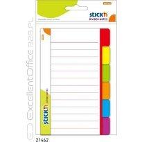 Przekładki samoprzylepne Stick'n Białe 100 x 150mm, 6 kol. indeksów