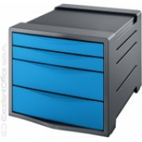 Pojemnik z szufladami ESSELTE Europost Vivida A4/4szuflady, niebieski