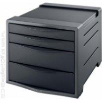Pojemnik z szufladami ESSELTE Europost Vivida A4/4szuflady, czarny