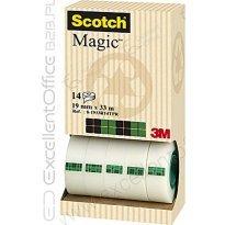 Taśma SCOTCH Magic 3M 8-1933R14TPR w kartonowym podajniku 12+2rolki gratis