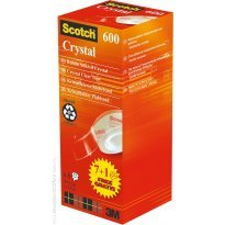 Taśma SCOTCH Crystal Clear 3M 600 19x33 7+1 gratis