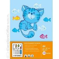 Blok rysunkowy TOP-2000 Creatinio A4/10k, 80g, kolorowy