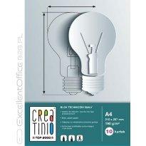 Blok techniczny TOP-2000 Creatinio A4/10k, 170g, biały