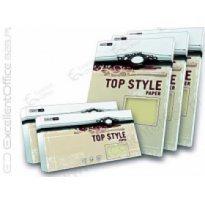 Papier wiz.TOP STYLE Linen biały A4 100g (50ark)