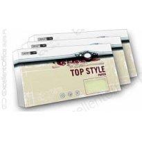 Koperta ozd.TOP STYLE Linen biały DL 100g (20szt)