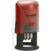 Datownik z płytką tekstową TRODAT PRINTY 46130 ISO, fi 30mm, wkład czerwony