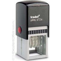 Datownik z płytką tekstową TRODAT PRINTY 4724 ISO, 40x40mm, wkład niebieski