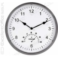 Zegar ścienny UNILUX z termometrem 30cm srebrny