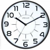 Zegar ścienny UNILUX POP, 28.5cm, czarny