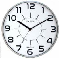 Zegar ścienny UNILUX POP, 28.5cm, srebrny
