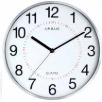 Zegar ścienny UNILUX ARIA, 28.5cm, srebrny