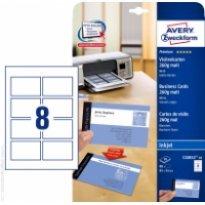 Karton wizytówkowy ZF Avery 85x54 matowy dwustr. biały 260g