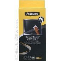 Płyn i ściereczki do czyszczenia ekranu Fellowes kpl.