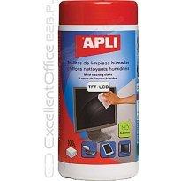 Ściereczki do czyszczenia monitorów APLI (100szt)