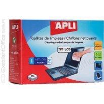 Chusteczki do czyszczenia ekranów APLI TFT-LCD (20)
