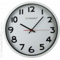 Zegar ścienny Q-CONNECT 37.5 cm, srebrny